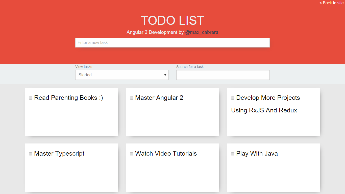 Simple todo list - Angular