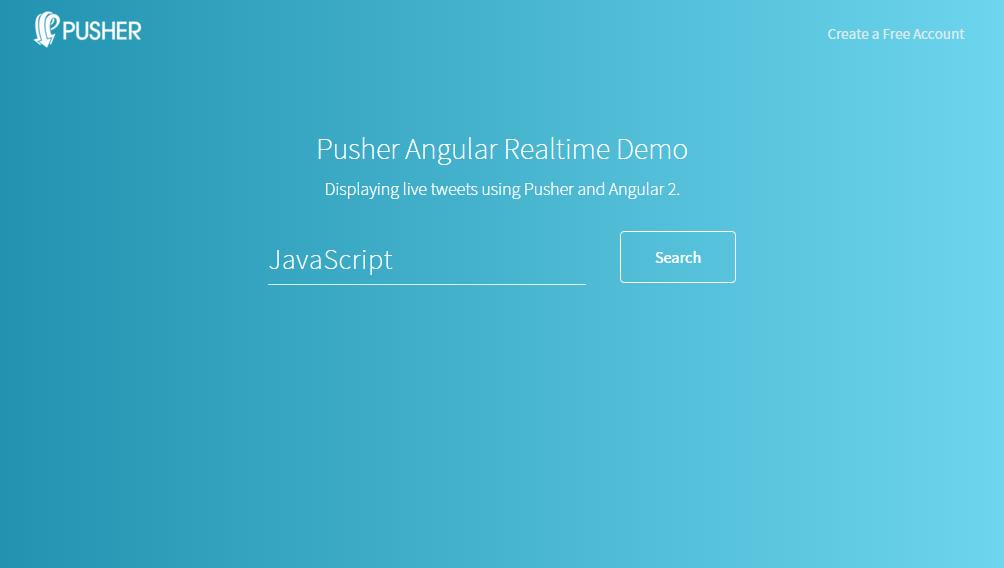 Pusher - Live Tweets - Angular