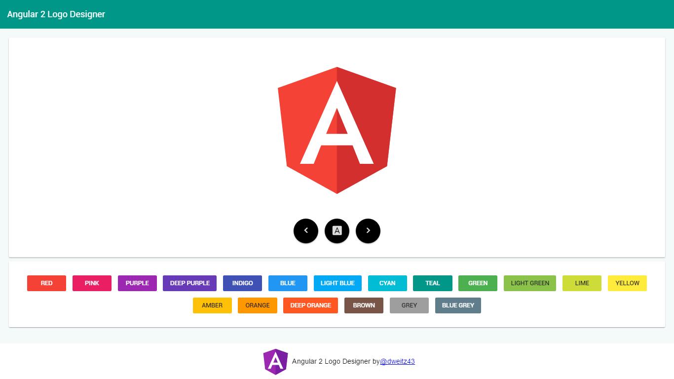 Angular Logo Designer - Angular
