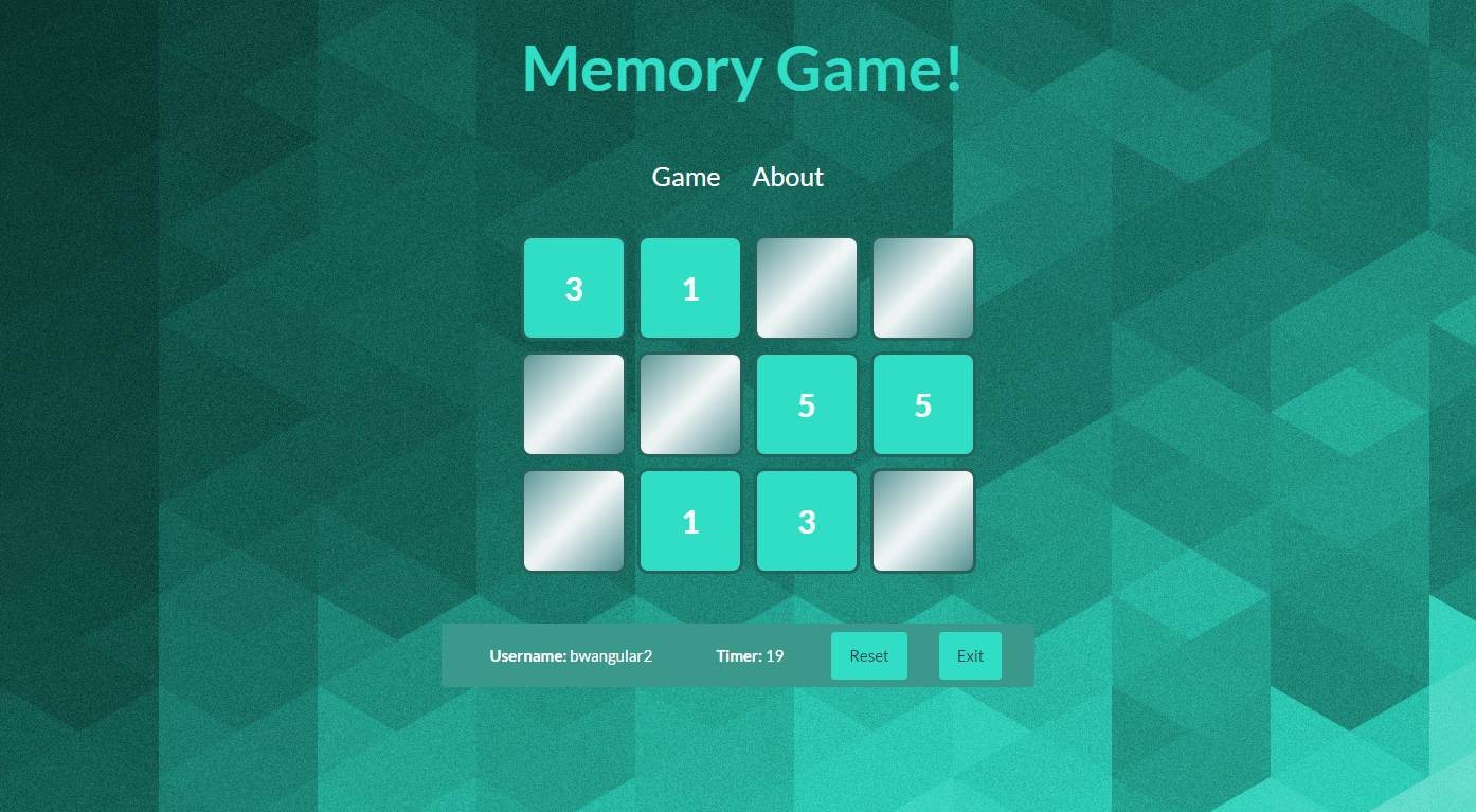 Memory Game - Angular