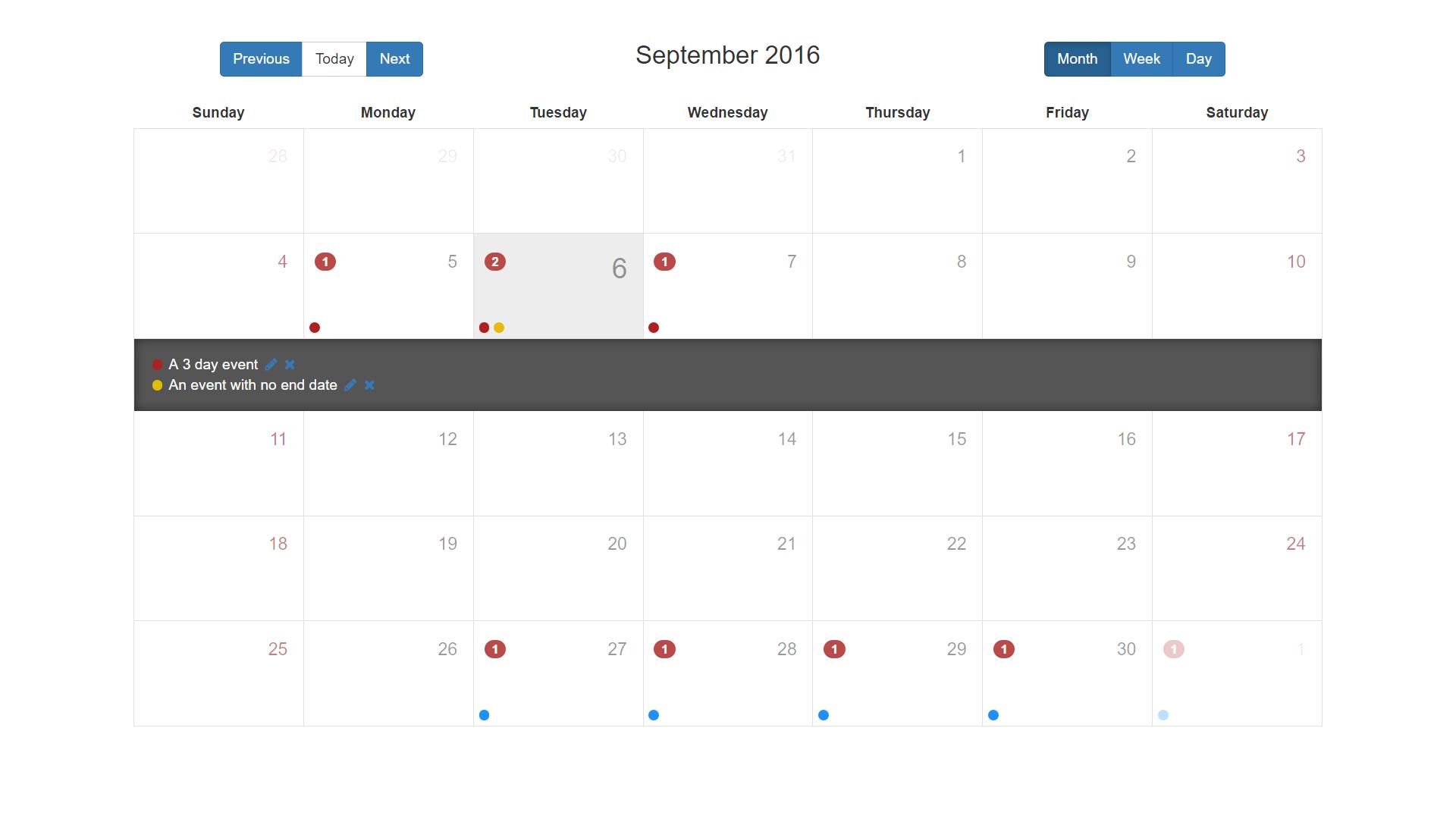 Angular Calendar.Calendar Component Angular Expo