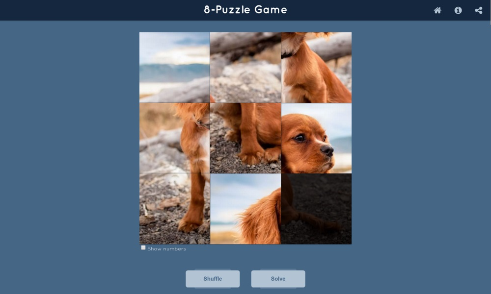 8-Puzzle Game - Angular 2