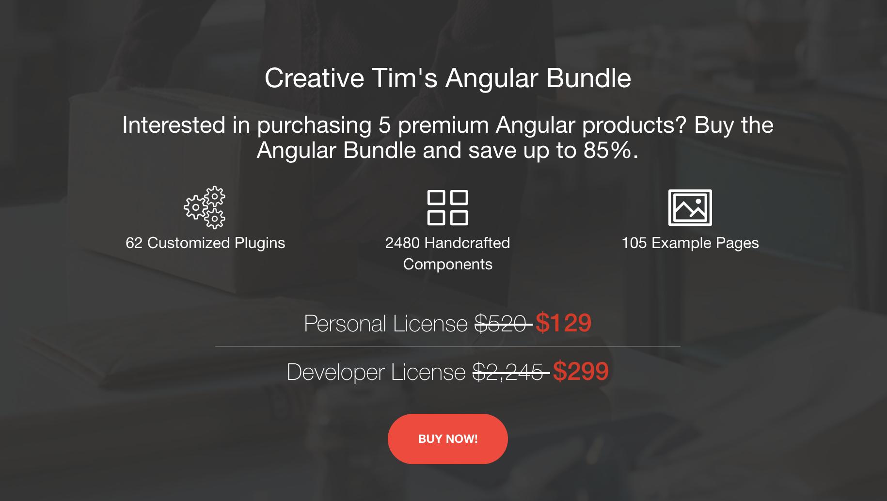Premium Angular Bundle by Creative Tim 😻 - Angular