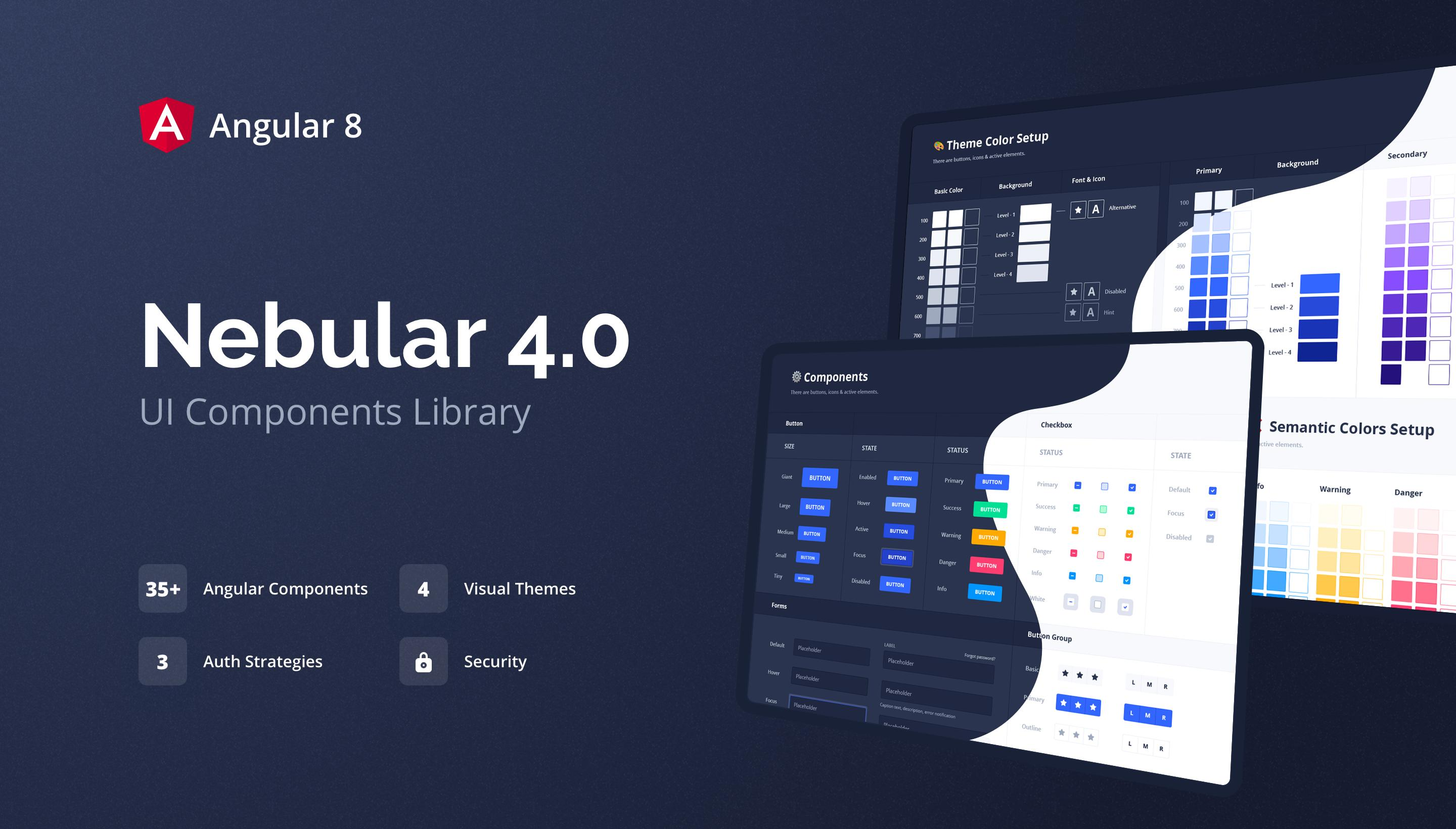 Nebular 4.0 - Angular