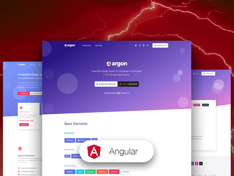 Argon Design System Angular - Angular