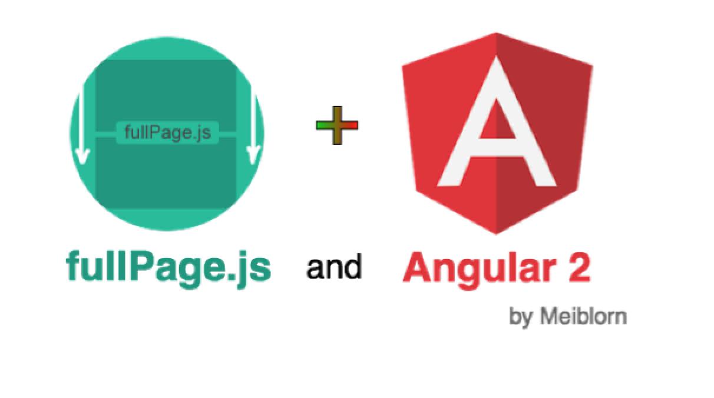 fullPage.js Integration for Angular 2 - Angular