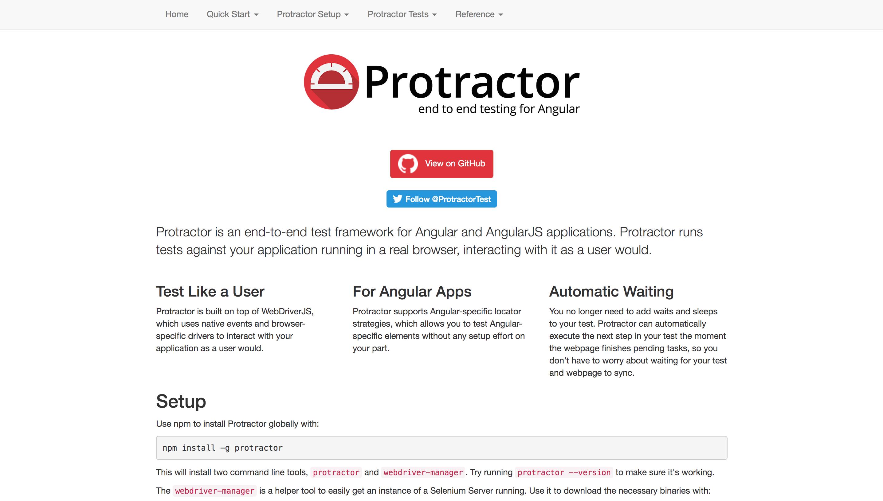 Protractor - Angular