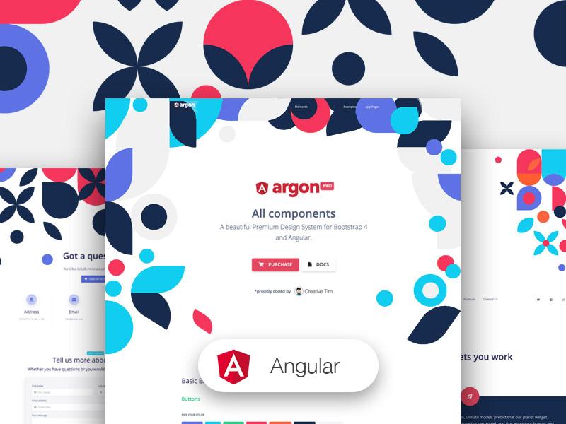 Argon Design System PRO Angular - Angular