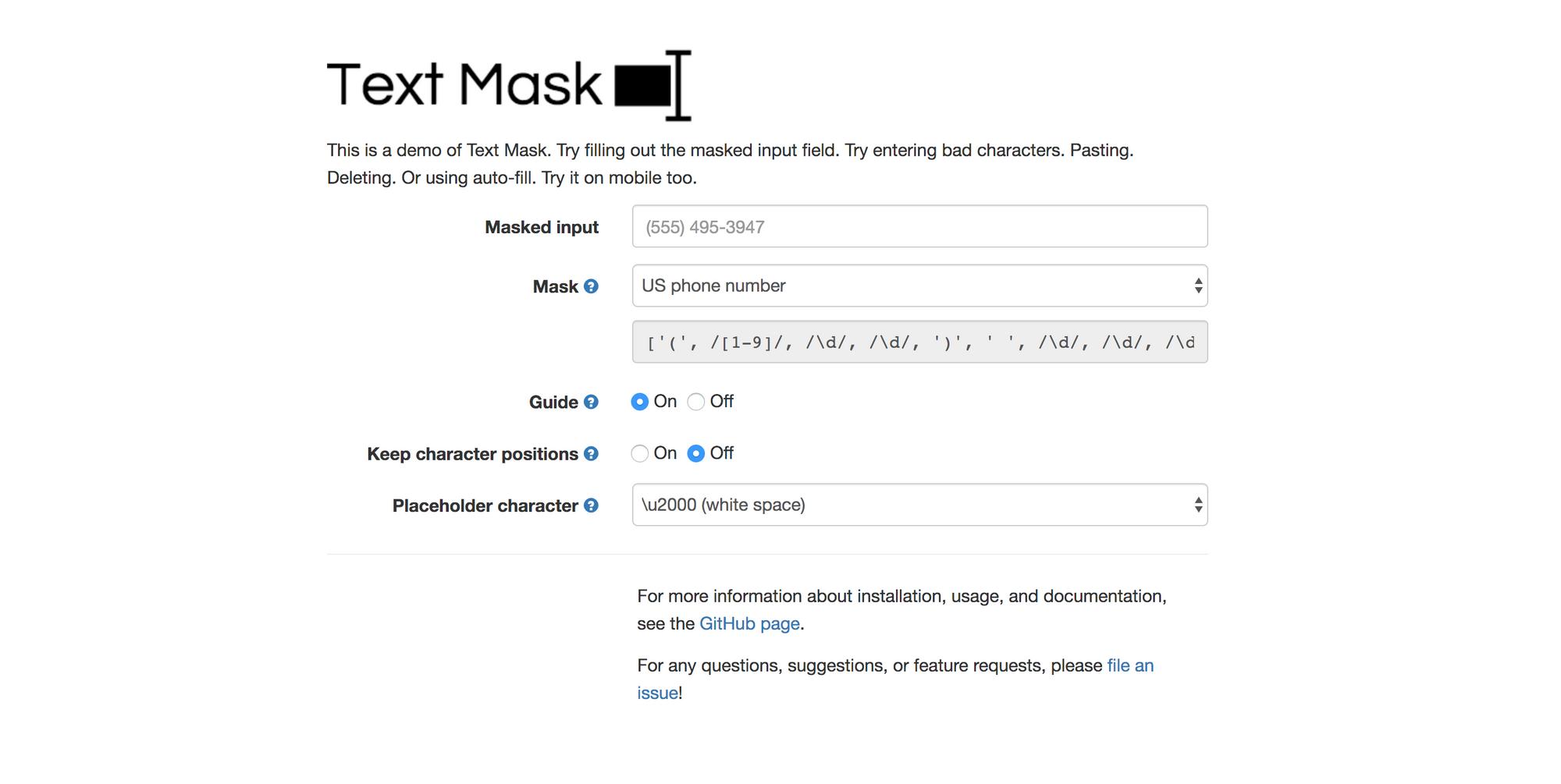 Text Mask - Angular