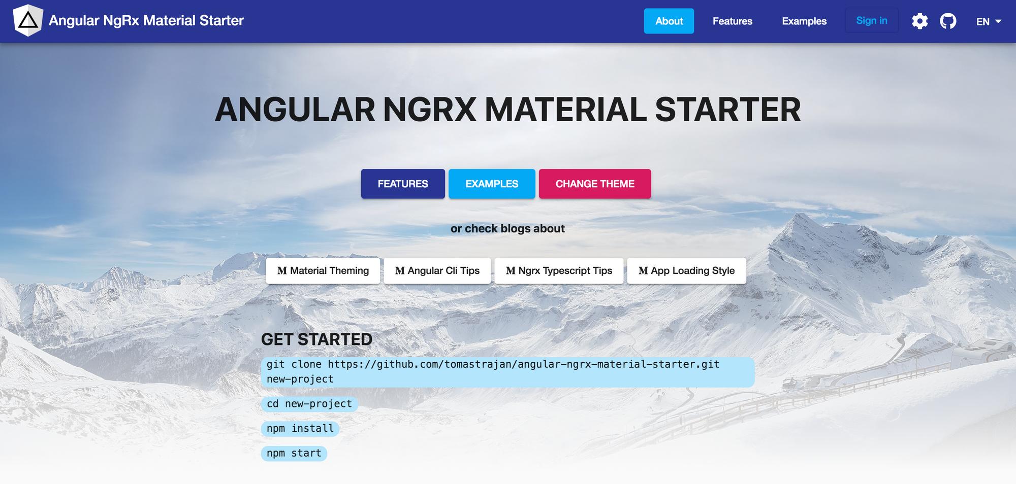 Angular NGRX Material Starter - Angular