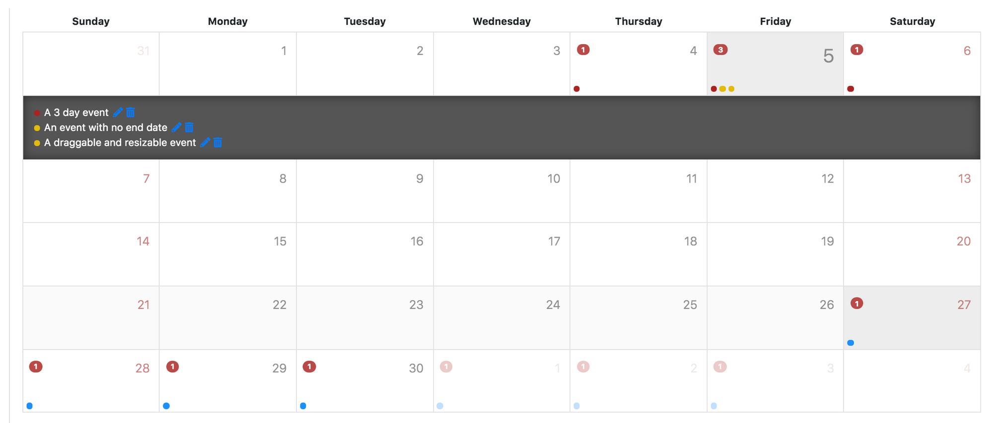 Angular Calendar - Angular
