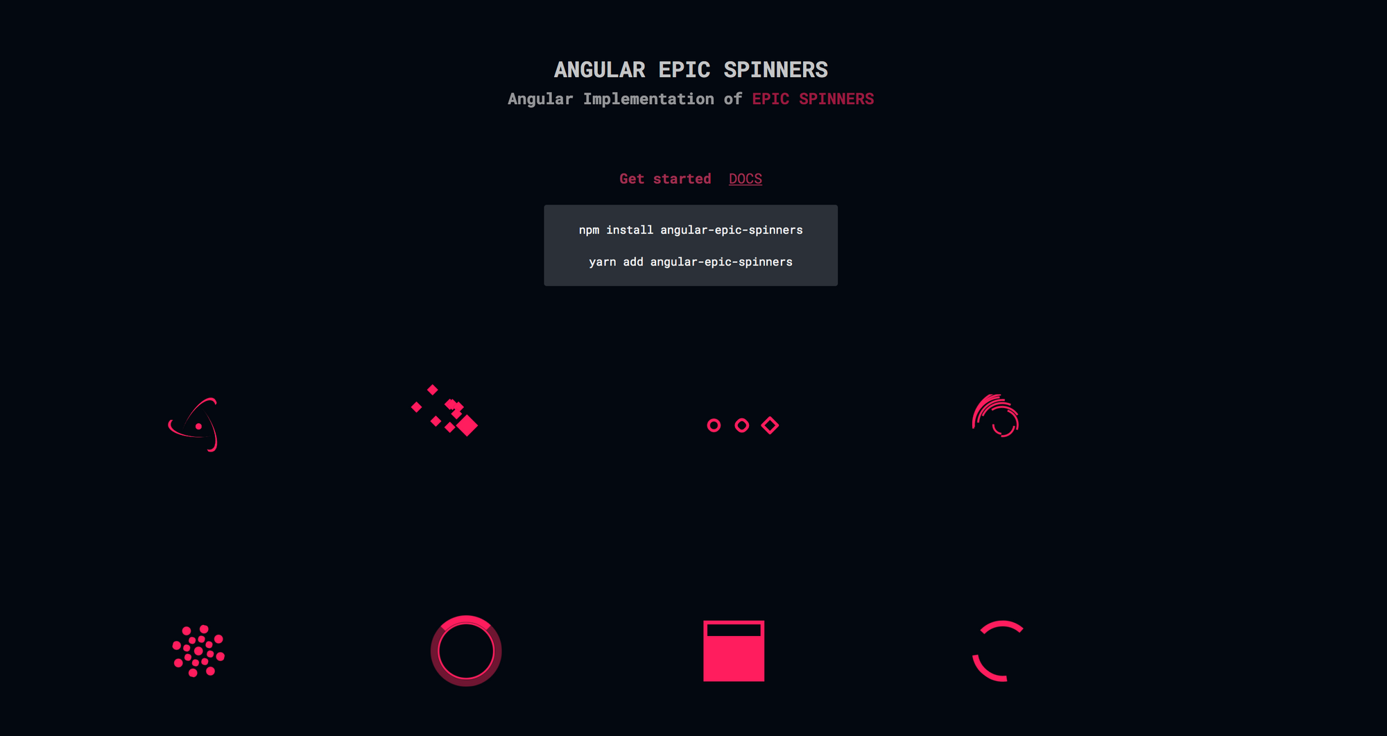 Angular Epic Spinners - Angular