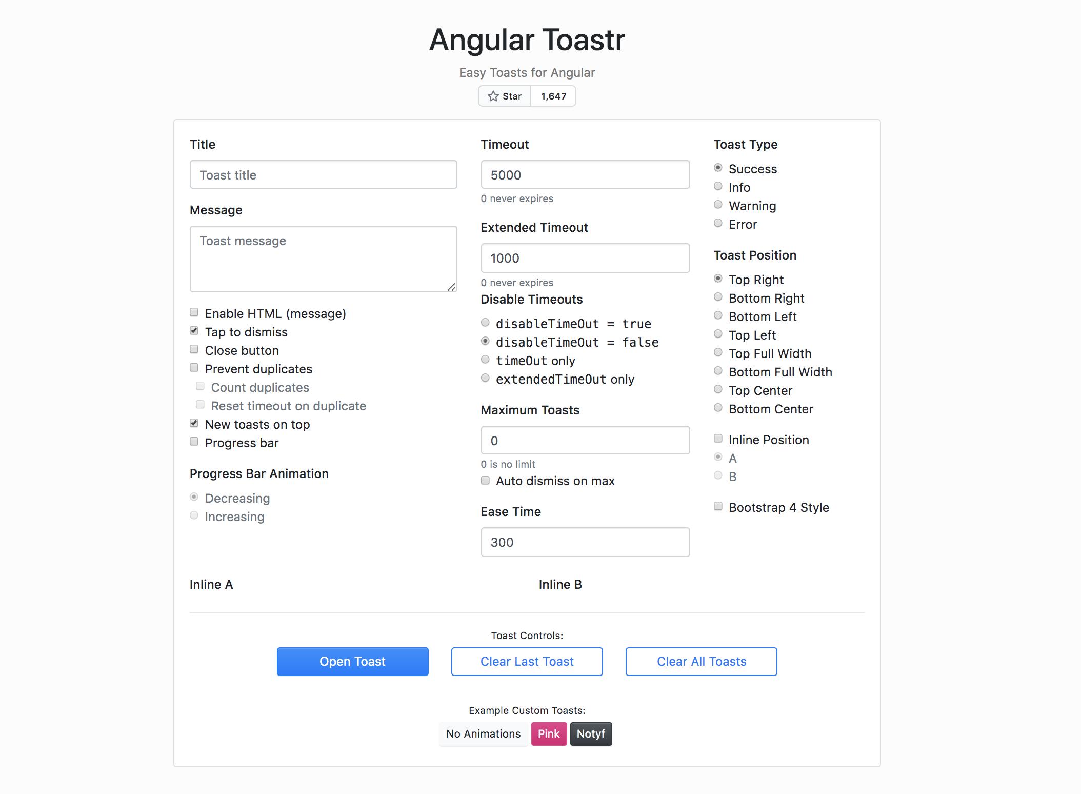 ngx-toastr - Angular